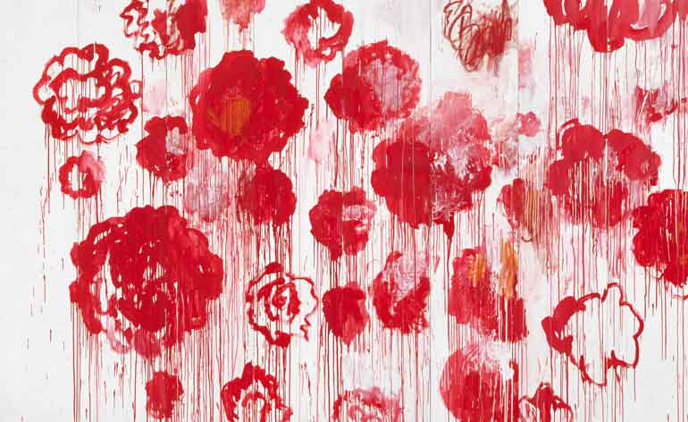 cys  limit gagosians soaring twombly exhibition wallpaper
