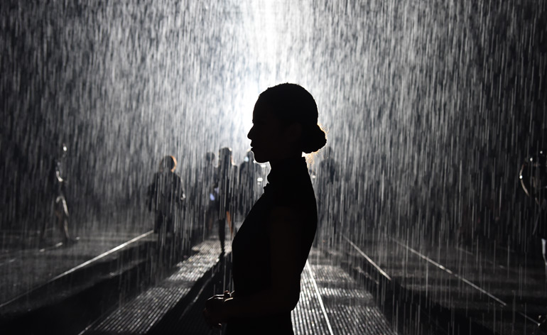 Random International\'s largest Rain Room to date takes Shanghai by ...
