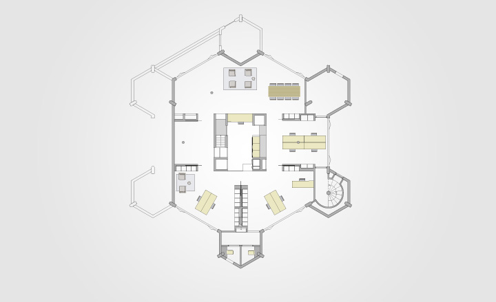 Cube house rotterdam floor plan for Cube house design layout plan