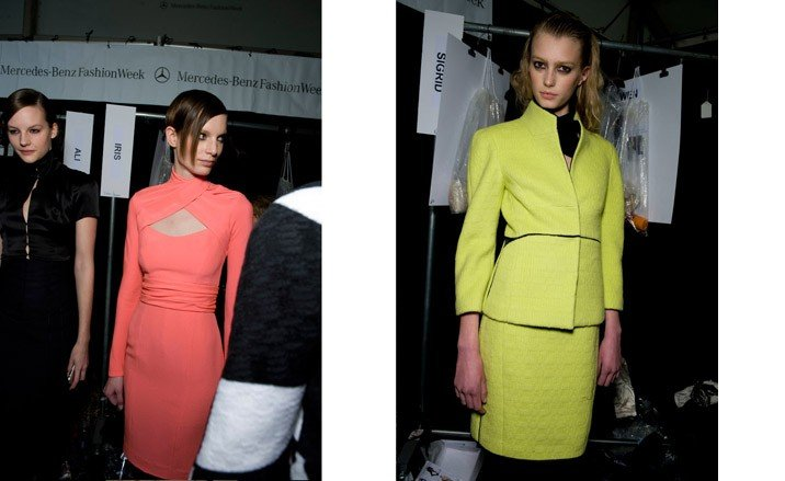 Backstage at New York Fashion Week, autumn/winter 09 ...