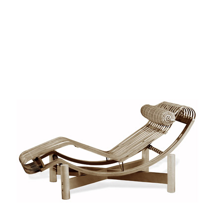 Charlotte perriand photography to interior design for Chaise longue bambou