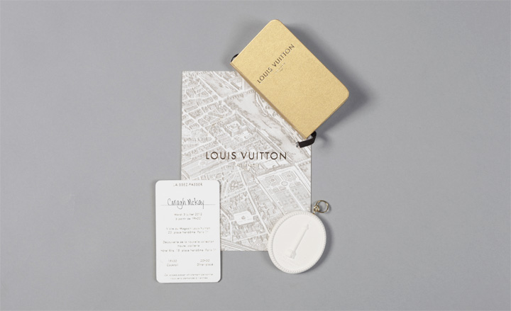Louis Vuitton Party Invitation Scale