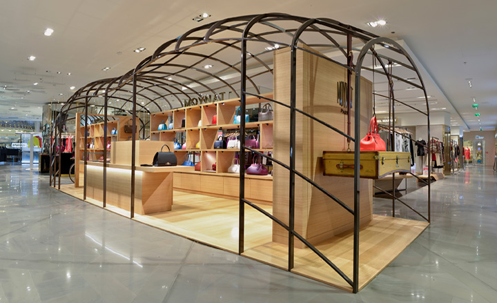 moynat 39 s travelling boutique begins world tour at galeries lafayette paris wallpaper. Black Bedroom Furniture Sets. Home Design Ideas