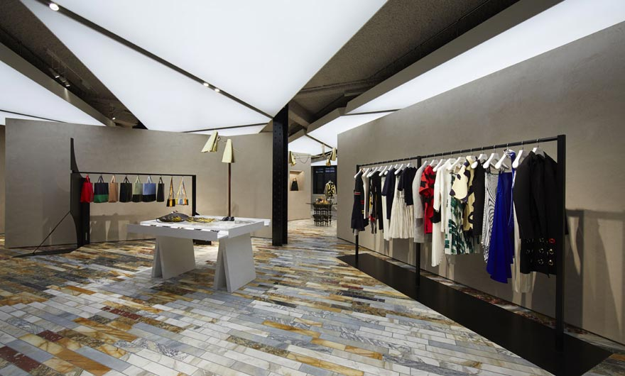 Phoebe philo 39 s highly anticipated 39 local 39 c line store is for Local wallpaper shops