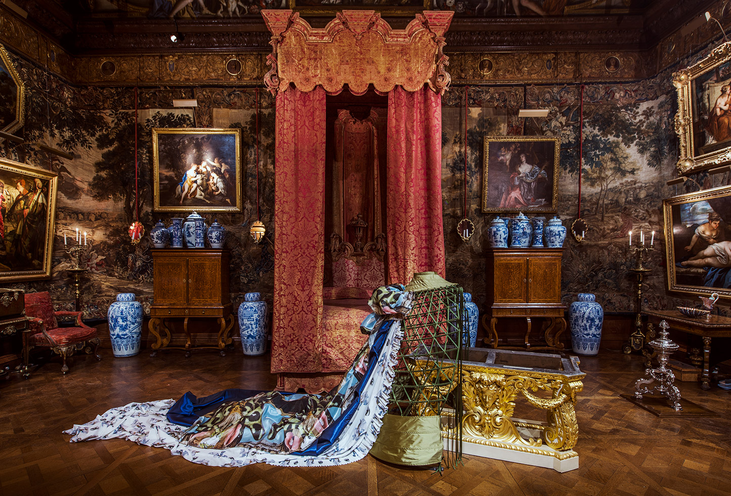 Installation view of 'Her Grace Land' by Linder at Chatsworth