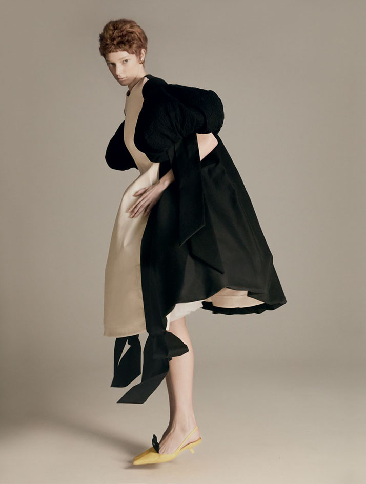 party dresses in voluminous shapes by Loewe