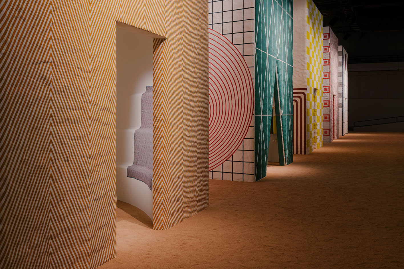 Hermes collections for the Home installation view at Salone 2021