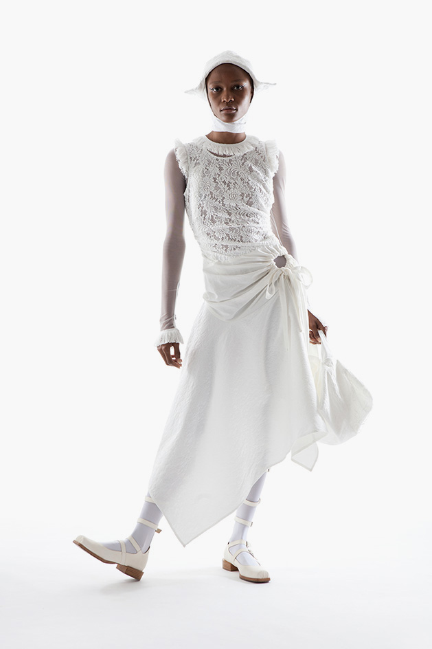 """""""asymmetric lace dress by Wed"""""""