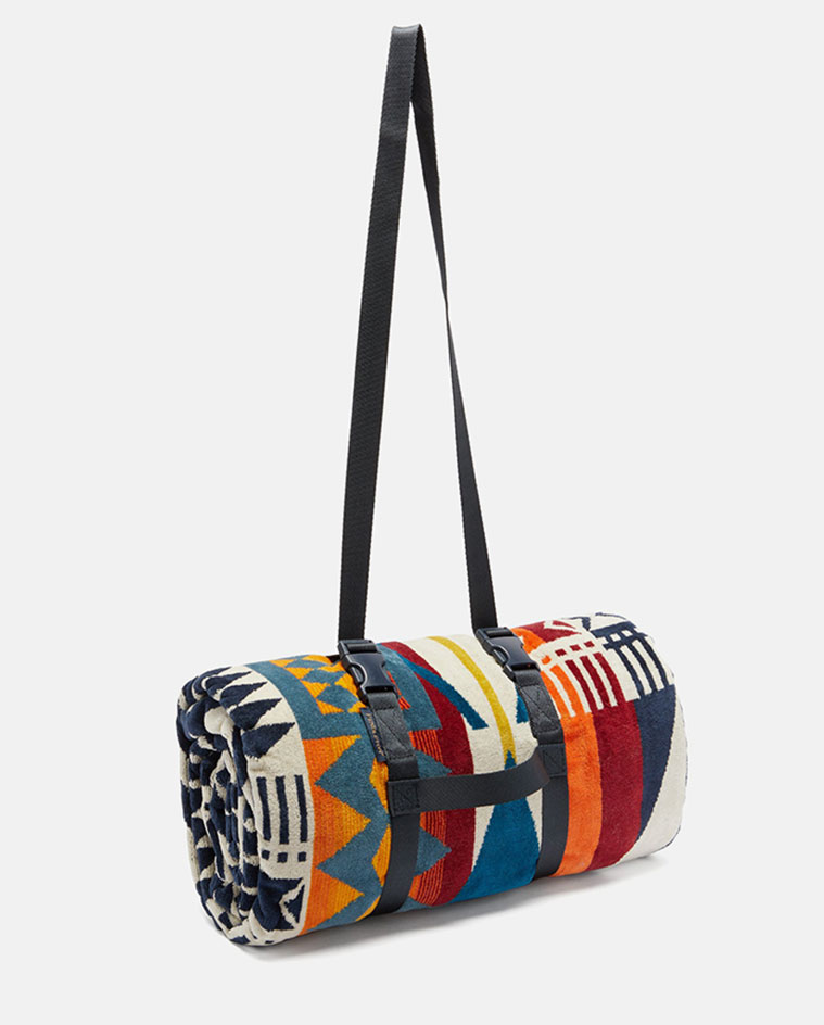 Surf style inspired patterned towel by Pendleton