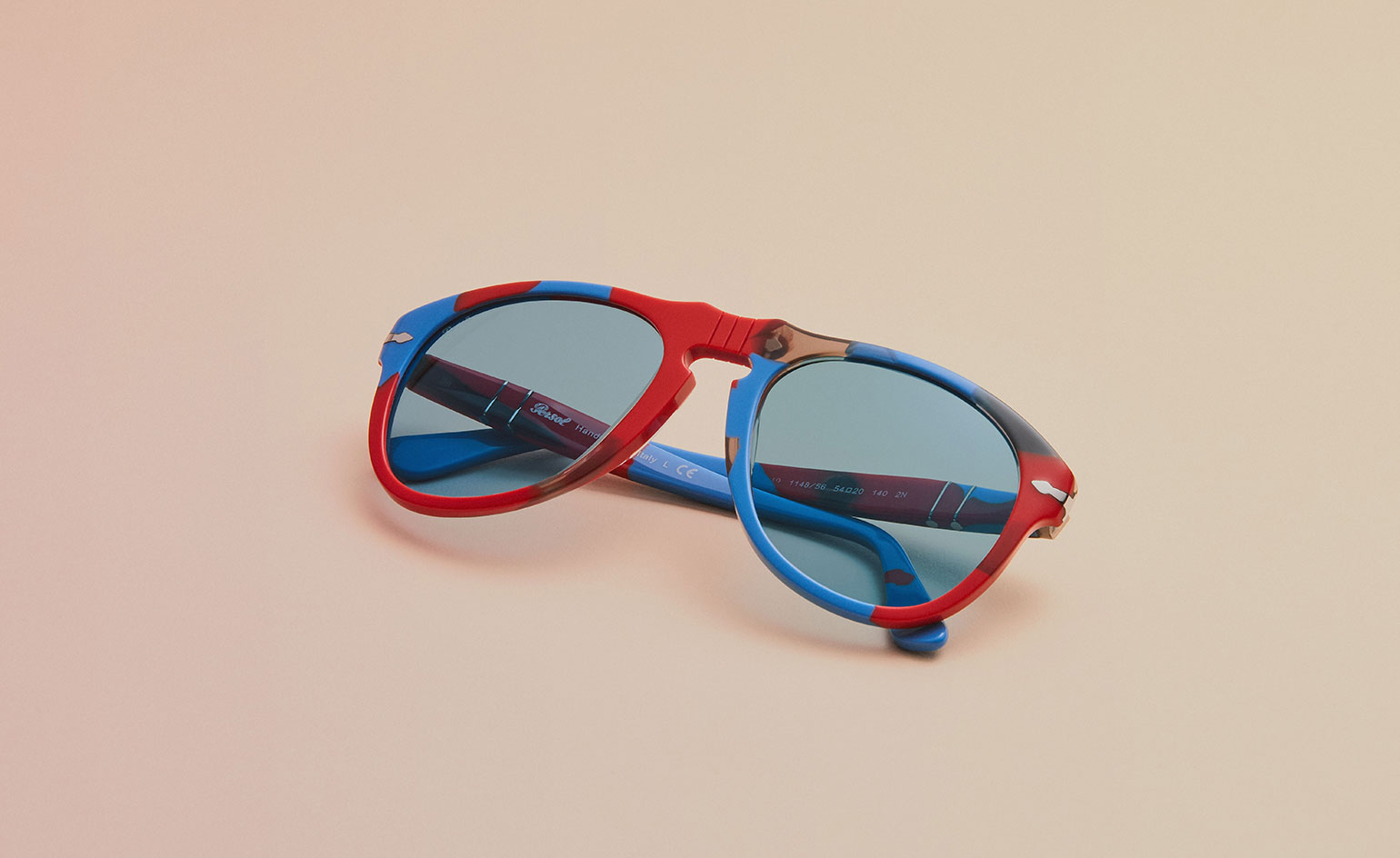 JW Anderson x Persol red and blue 649 sunglasses