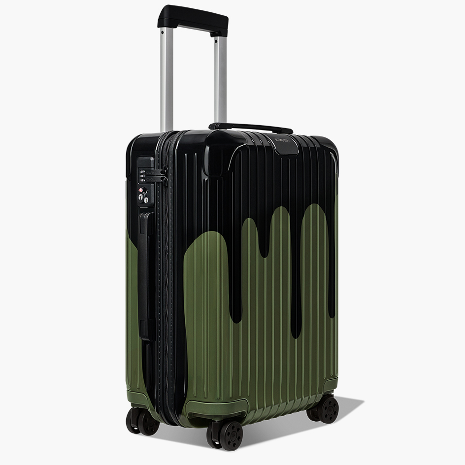 paint splattered Cabin Bag by Rimowa X Chaos