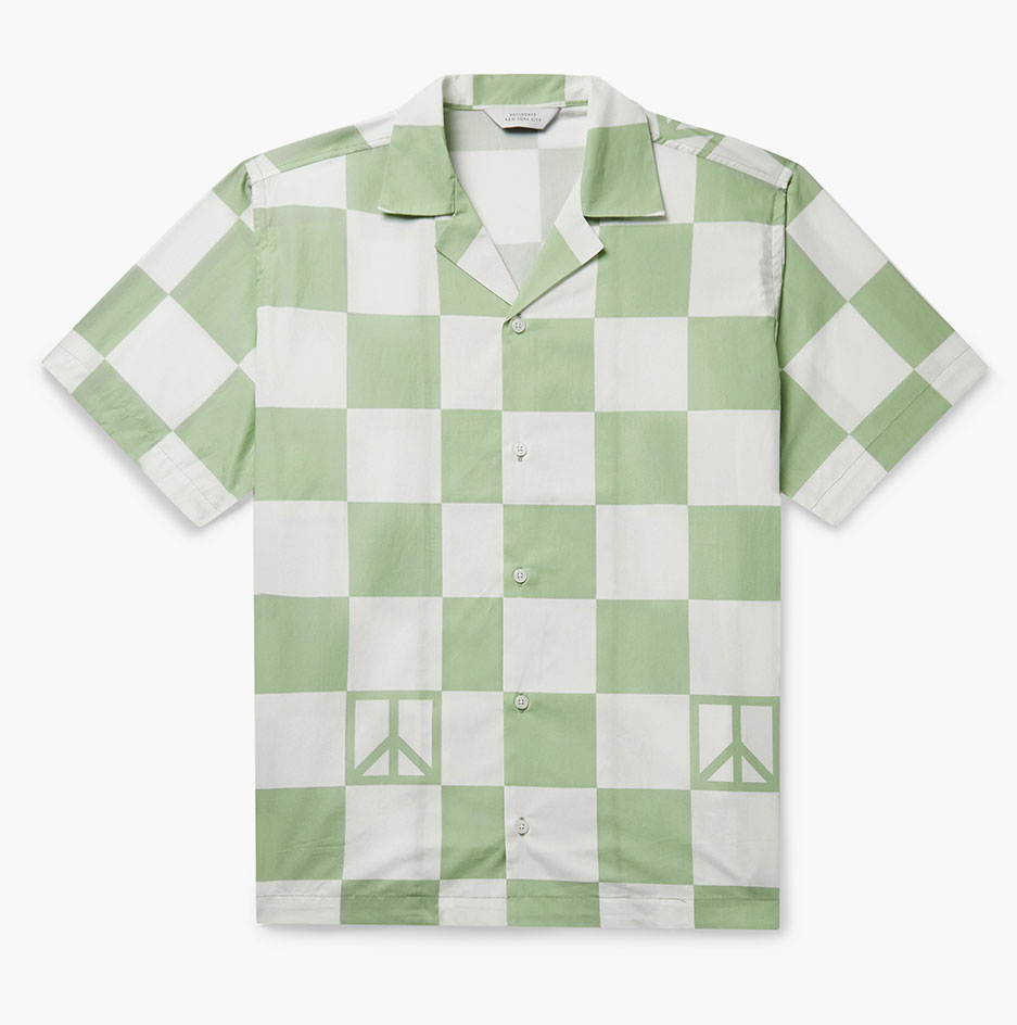 Surf style inspired checkerboard shirt by Saturdays NYC