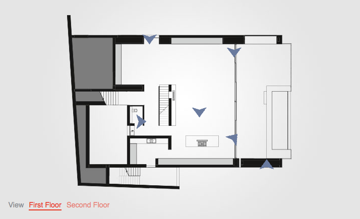 Interactive floor plan house ovd525 by three14 architects for Void architecture definition