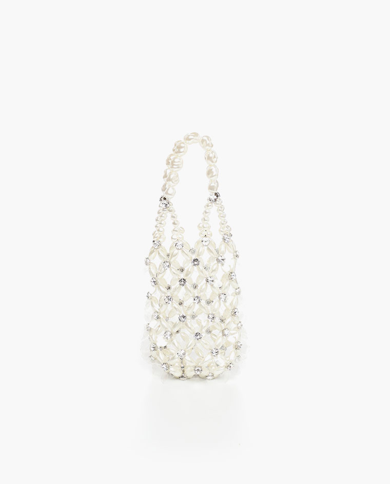 Alternative bridal accessories Pearl and crystal bag by Simone Rocha