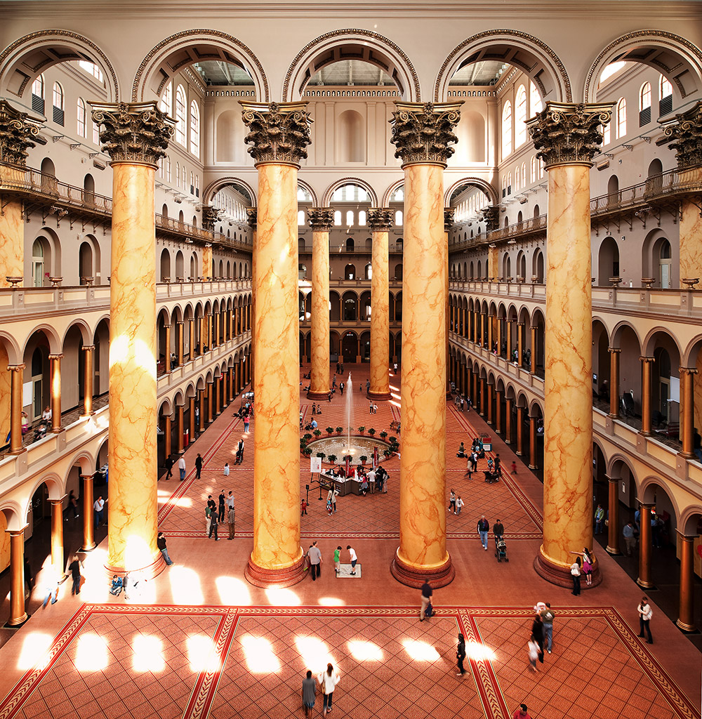 The Great Hall at the National Building Museum, Washington DC
