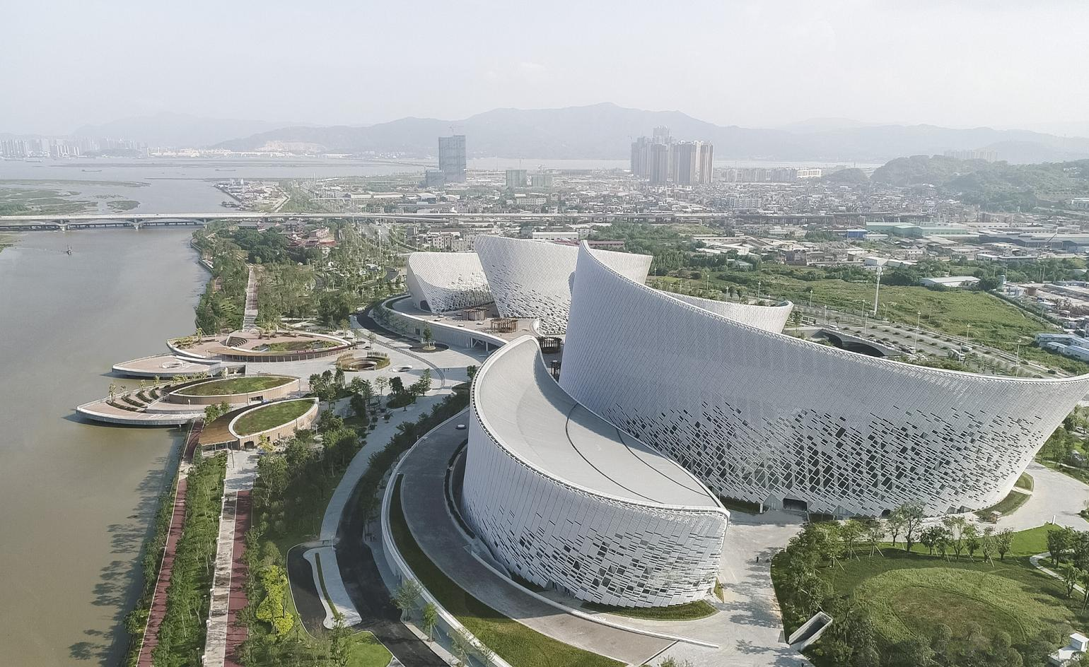 Fuzhou's art centre by PES Architects takes its cues from jasmine blossom