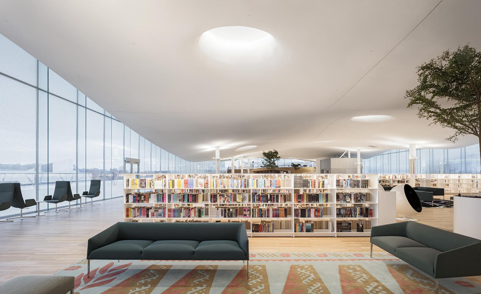 Helsinki opens a light-filled library as a national monument to education, sharing and books