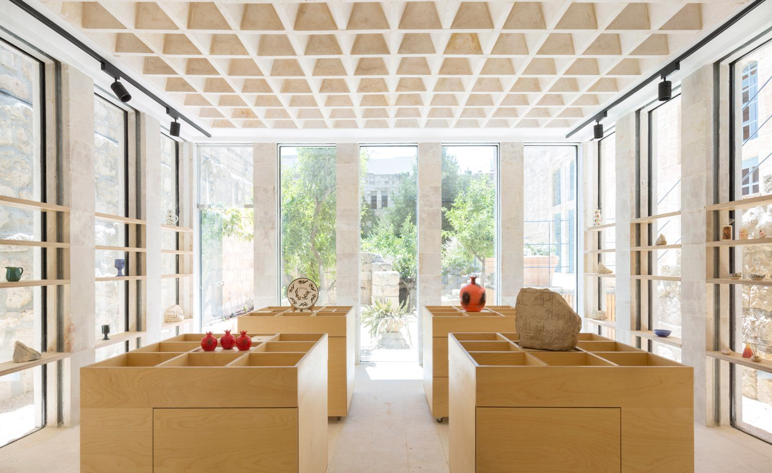 A 12th century crypt shop design is inspired by Jerusalem's monastic architecture