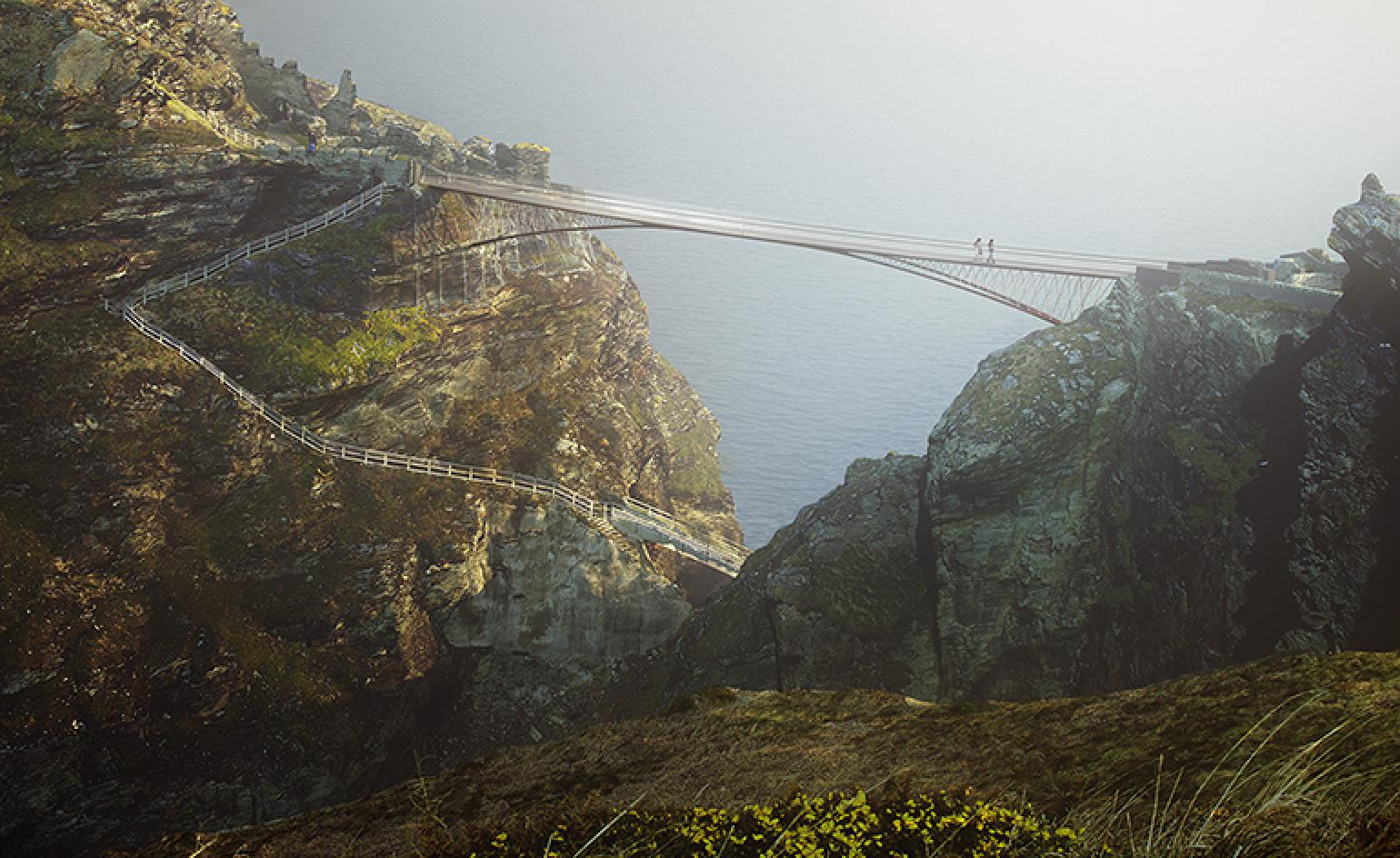 Tintagel Castle To Receive Cantilevered Footbridge