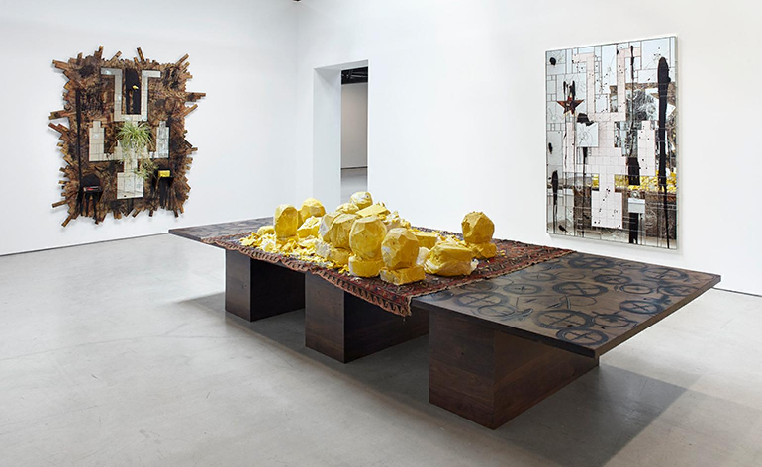 Distinct faces: Rashid Johnson explores escapism and identity in 'Fly Away', at Hauser & Wirth