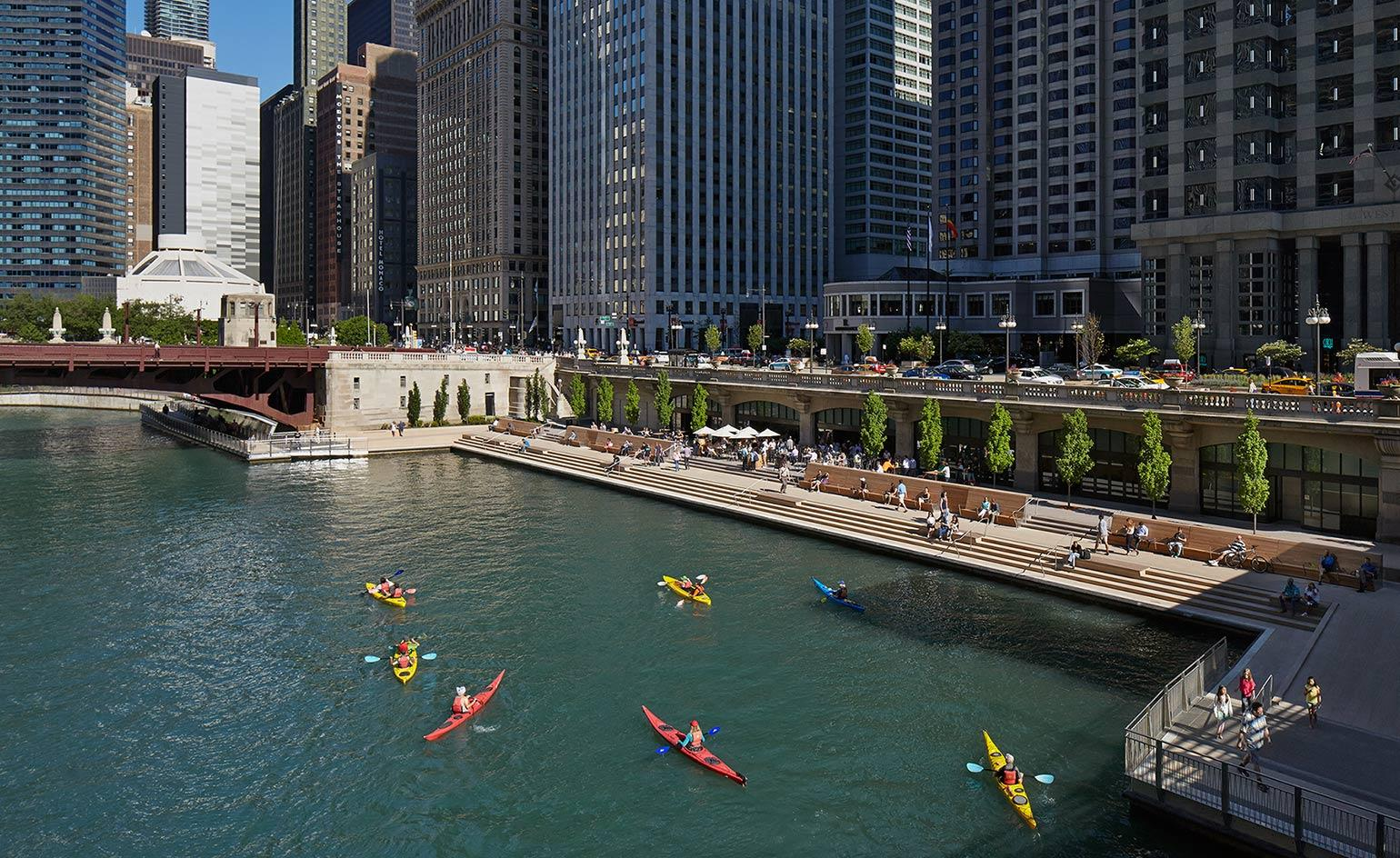Chicago Riverwalk To Transform The City S Urban Experience Wallpaper
