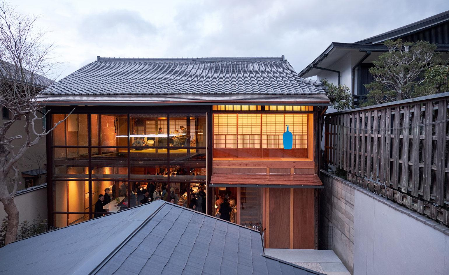 Kyoto's first Blue Bottle Coffee shop is an architectural zen retreat