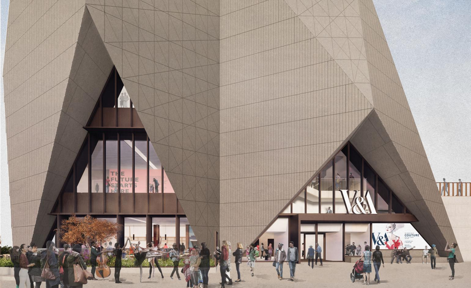 V&A unveils two new designs for east London cultural hub