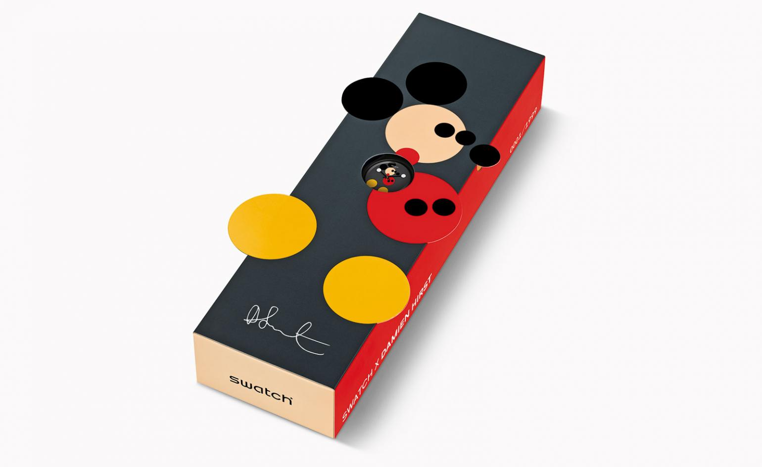 swatch  damien hirst celebrate mickey mouses anniversary wallpaper