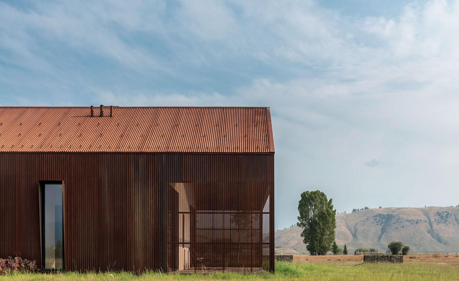 A Corten house channels agrarian aesthetics in Wyoming