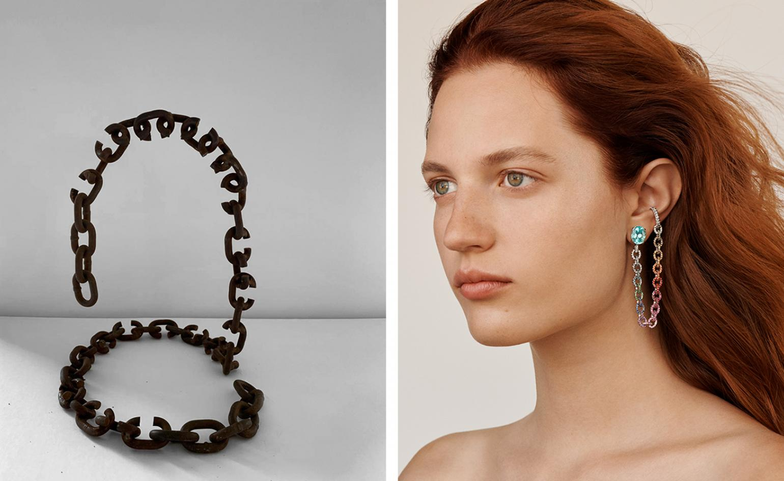 Chain reaction: sculpture and jewellery interconnect as Ana Khouri's designs go on show at Phillips, London