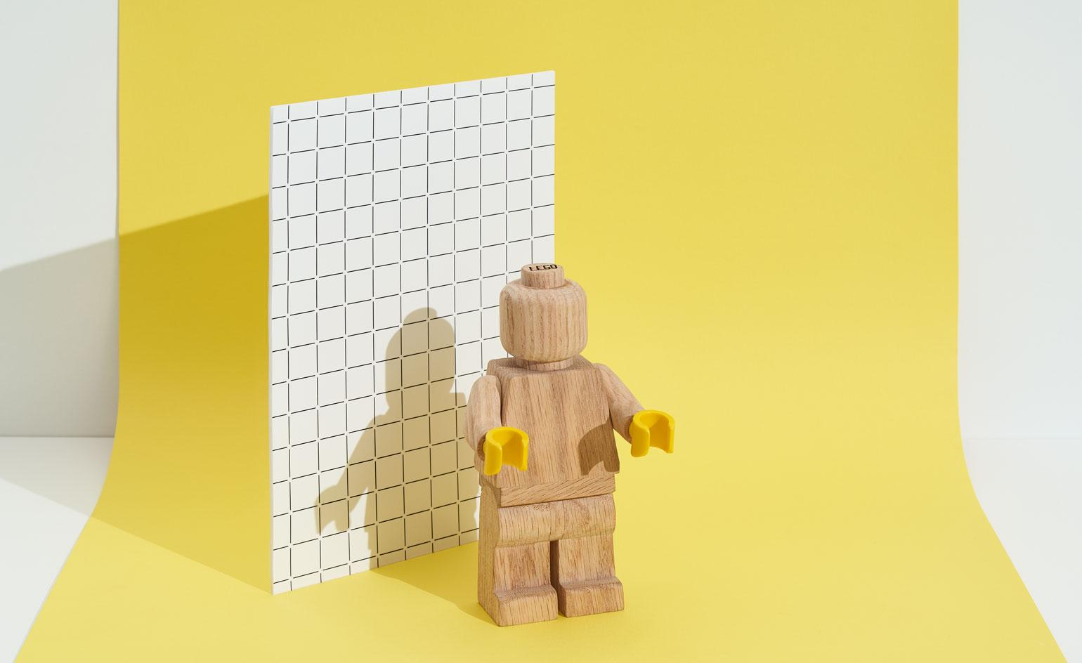 Lego's iconic 1970s mini-figure gets a new wooden look