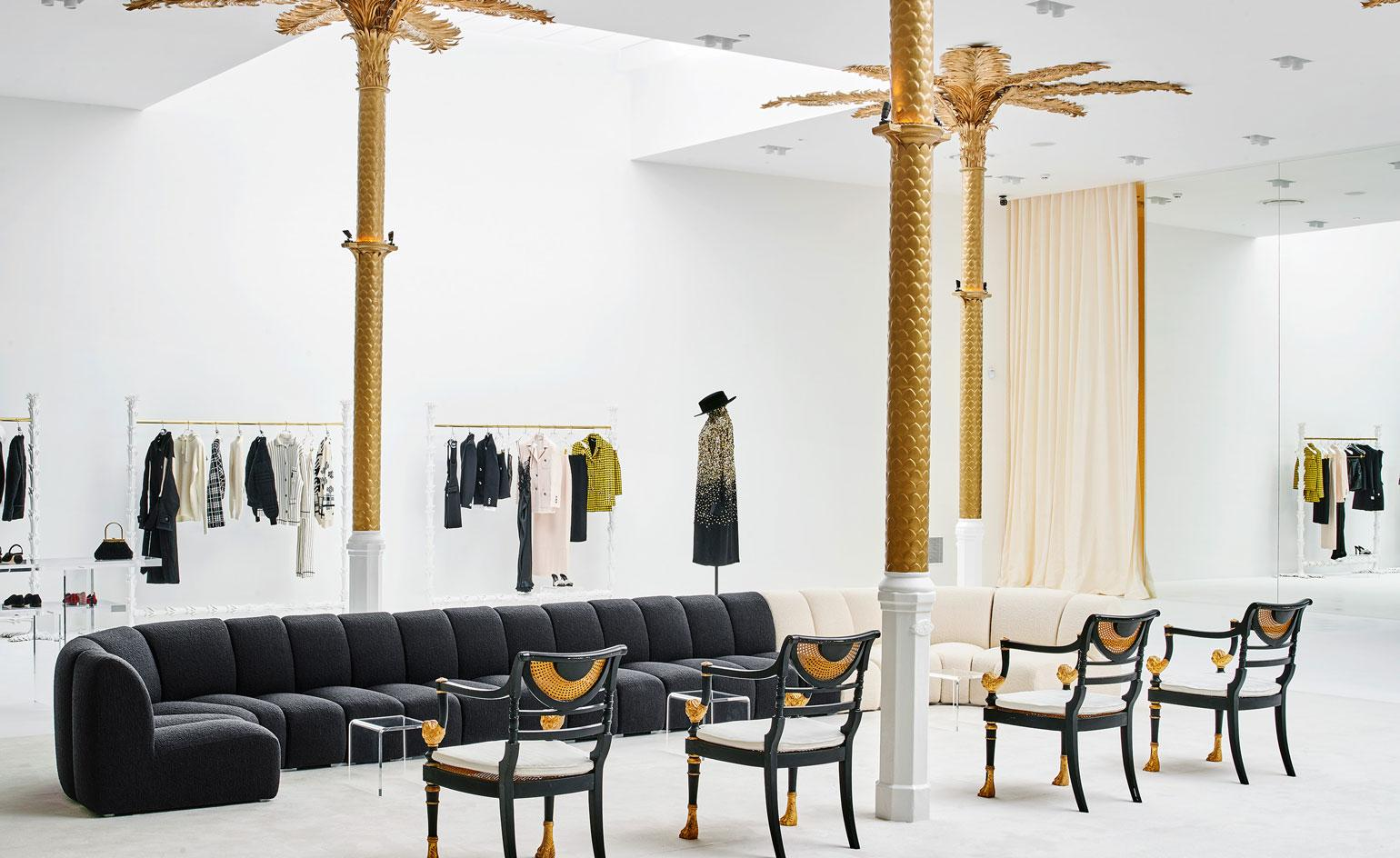 Barcelona's Darial concept store boasts gold palm trees and art deco glamour