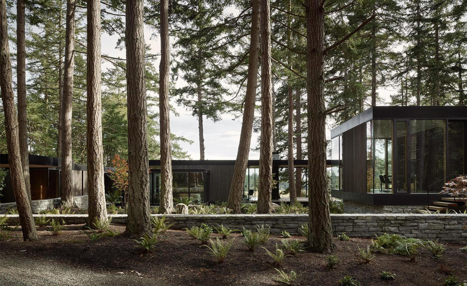 MW works designs floating pavilions for family retreat on Whidbey Island