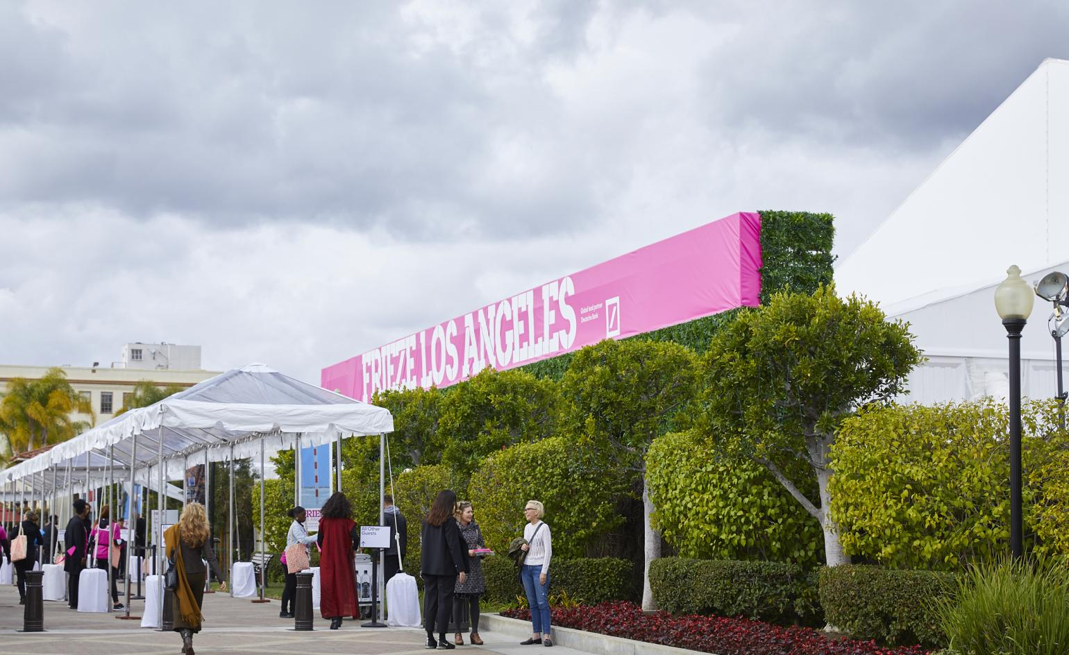 wHY designs Frieze Los Angeles tent at Paramount Studios location