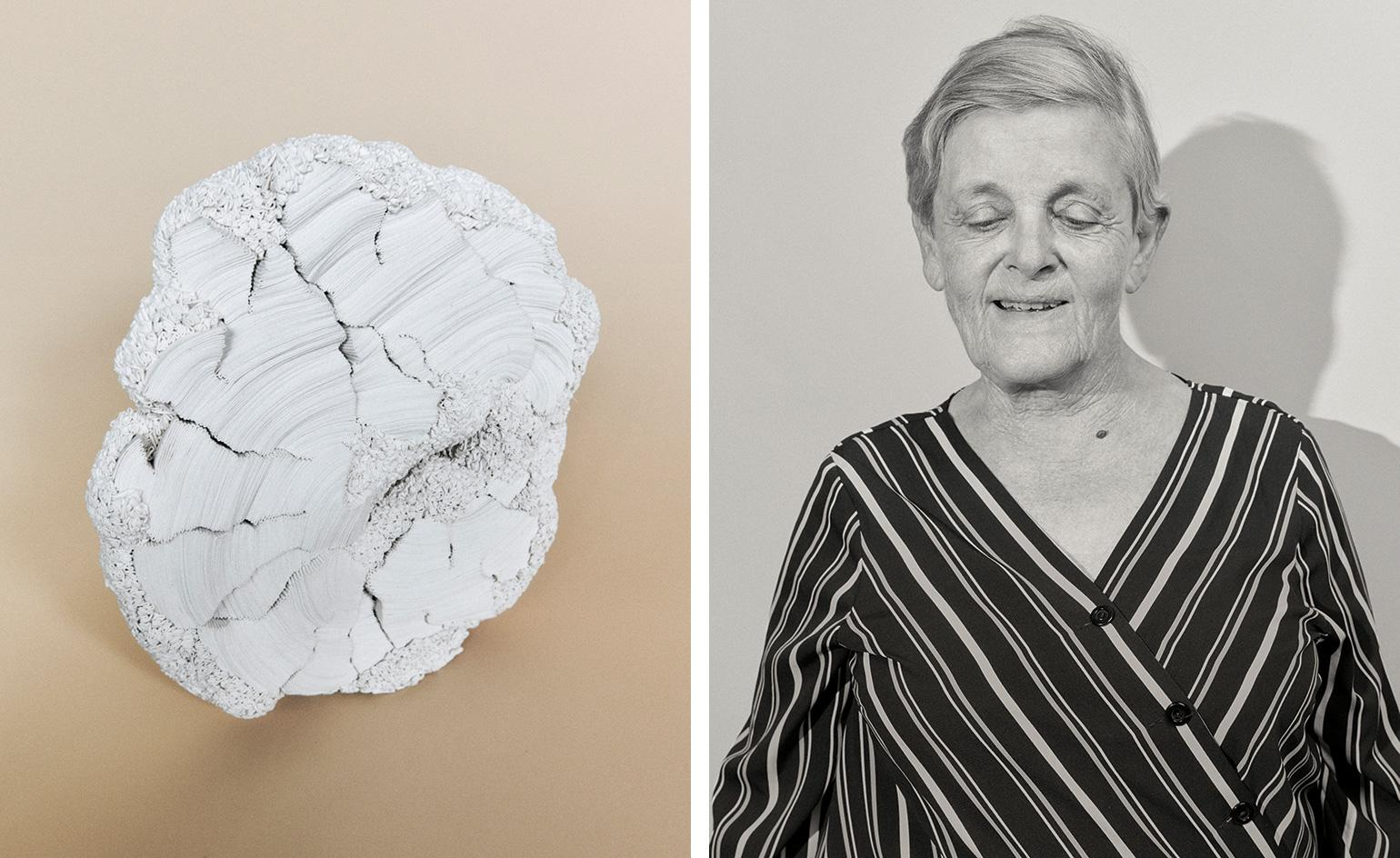 After 40 years in craft, French textile artist Simone Pheulpin is finally making her point