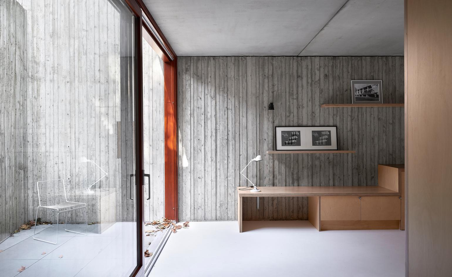 Victoria Park townhouses are punctuated by Kennedy Twaddle's 'essay in concrete'