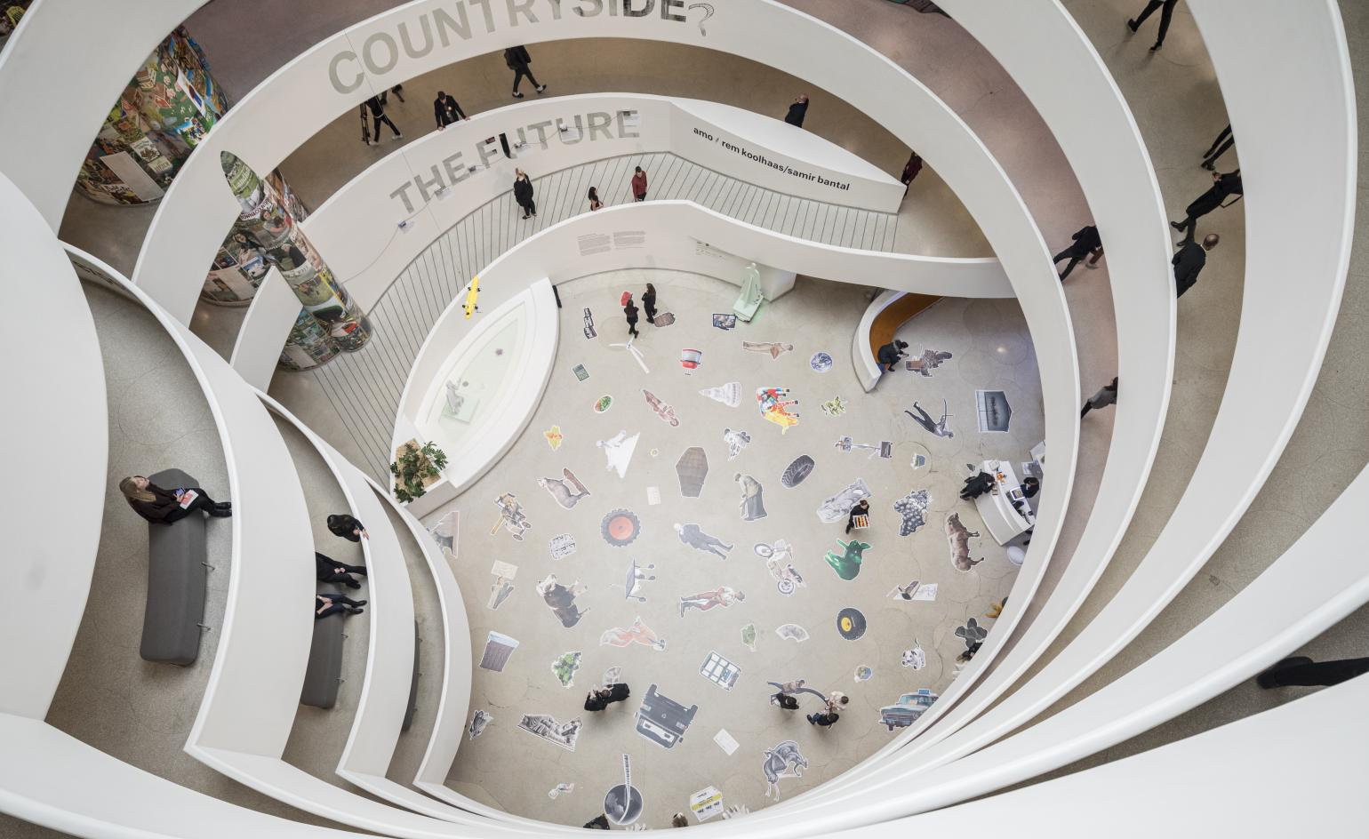 Rem Koolhaas contemplates the countryside at the Guggenheim's latest show in New York