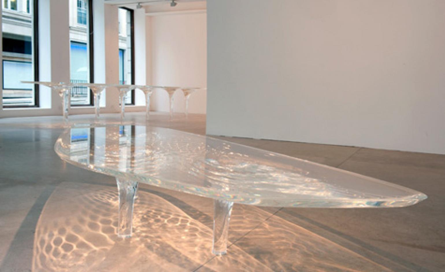 Liquid Glacial Tables By Zaha Hadid At David Gill