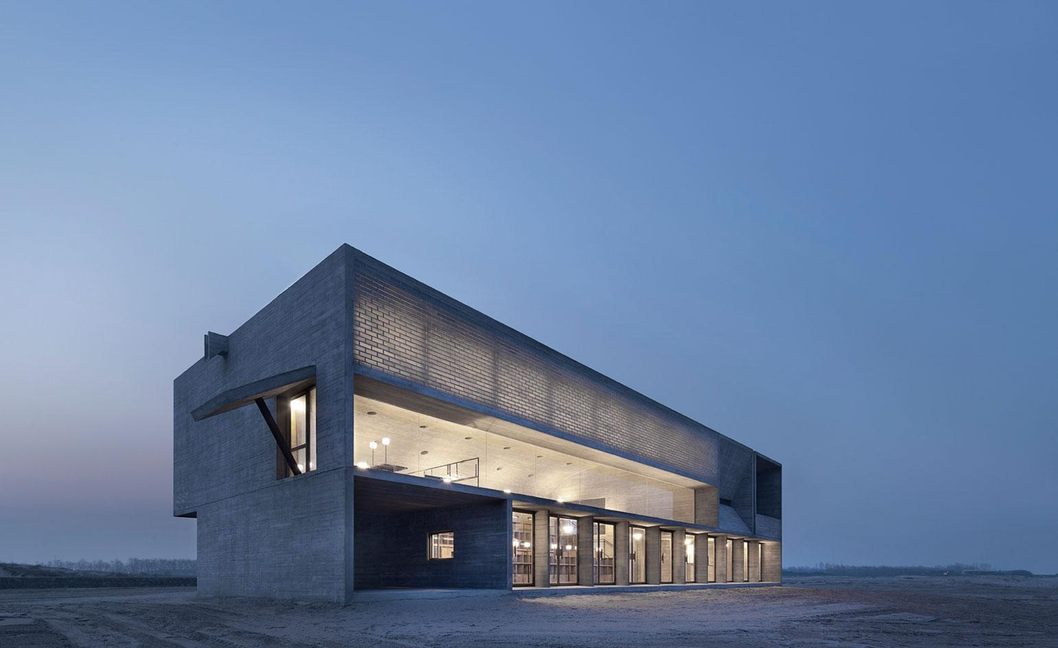 Quiet contemplation: Vector Architects' beachside library in China makes the perfect reading retreat