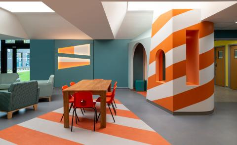 colourful space for young mental health patients in Edinburgh