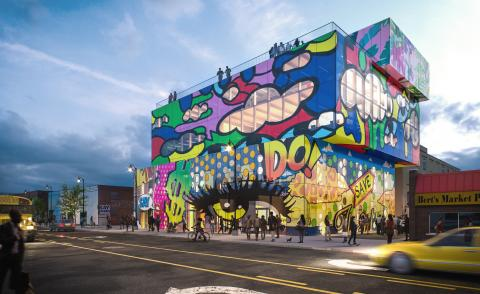 MVRDV Detroit Glass Mural