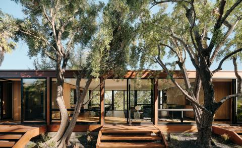 modernist Moore house renovated hero exterior