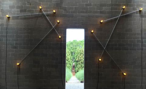 Light beings: G.T. Pellizzi's constellations of light at The Watermill Center