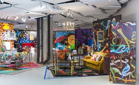 Summer lovin': ToiletPaper's psychedelic displays at Galeries Lafayette
