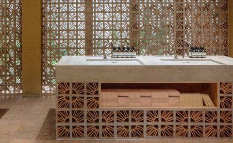 The Campana brothers put a humble Brazilian brick centre stage at Aesop's latest store