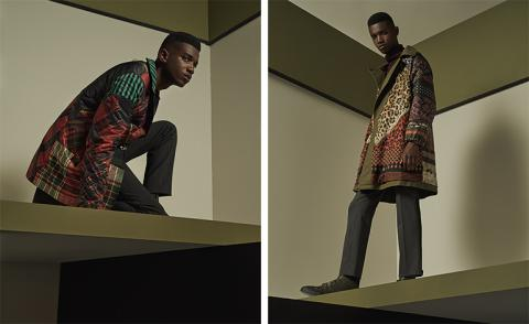Herno's capsule outerwear collection is a bewitching blend of clashing patterns