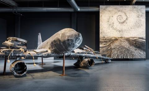 Anselm Kiefer's lead airplane sculptures loom large at Copenhagen Contemporary