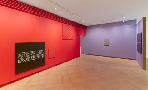 Combined forces: colour blocking with Joseph Kosuth and monochrome masters