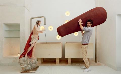 Buried treasure: sustainable sarcophagus, by Tom Dixon and Paper Factor
