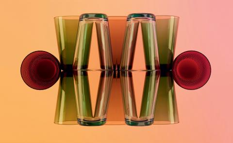Tinted love: we're taking a Technicolor tumble into cocktail hour